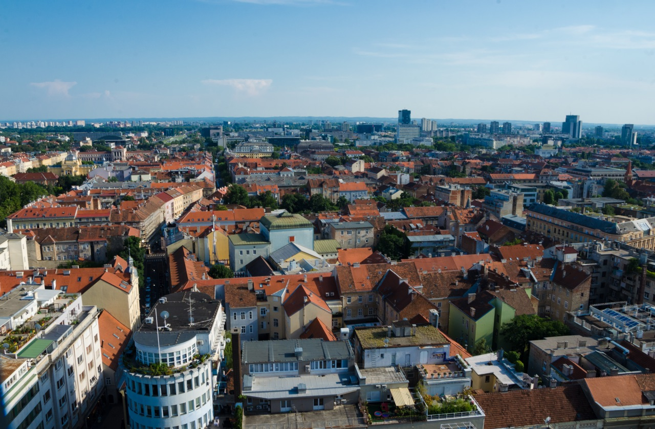 Zagreb, Aerial view